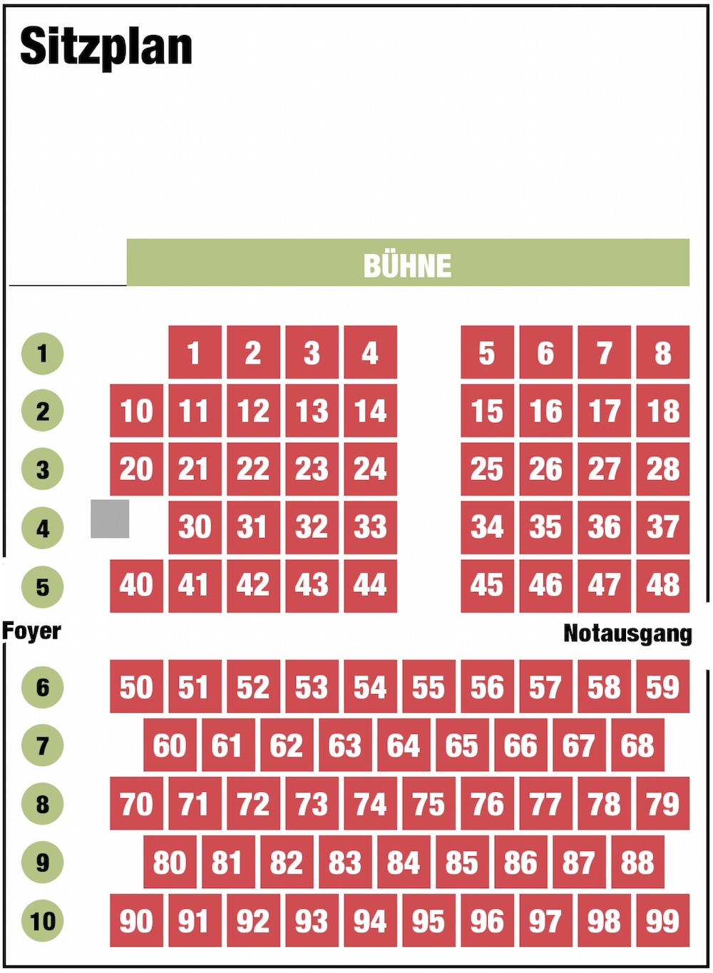 Sitzplan Kammertheater Dormagen